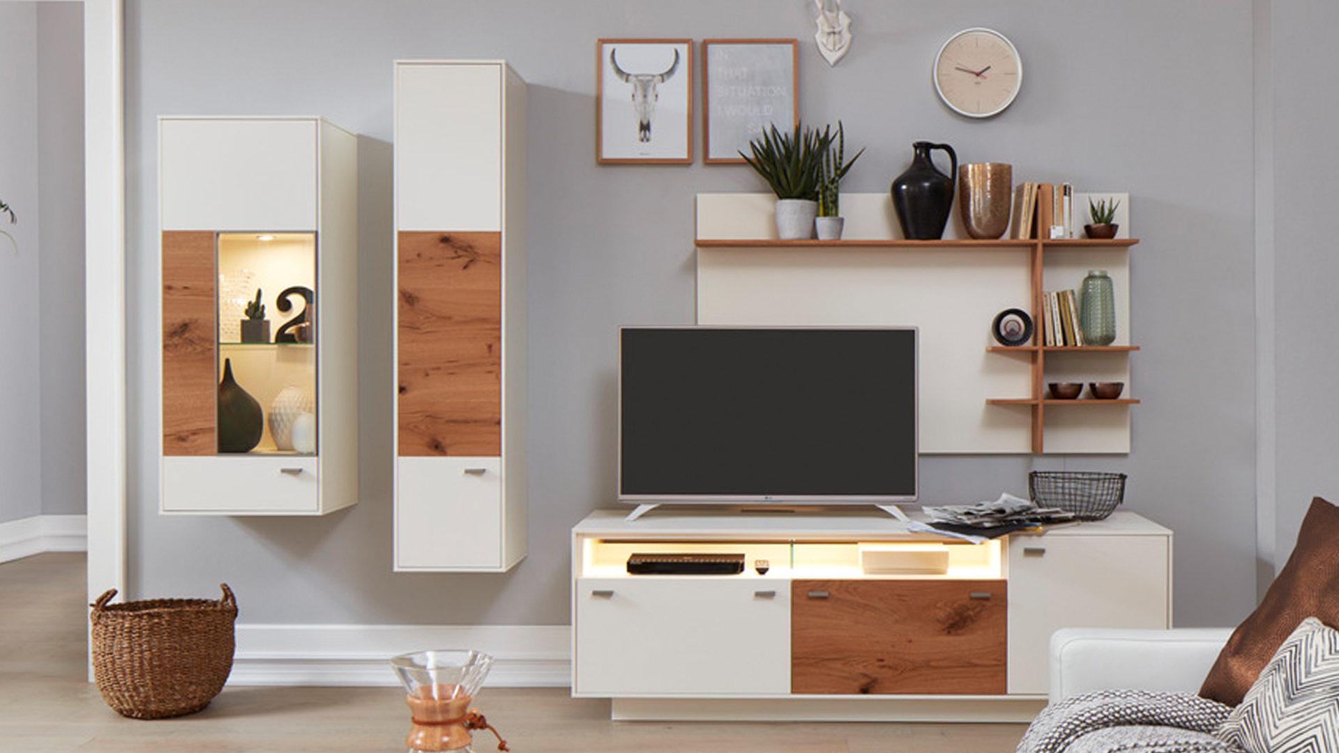 Möbel Busch , Räume, Wohnzimmer, Schränke + Wohnwände, Interliving ...