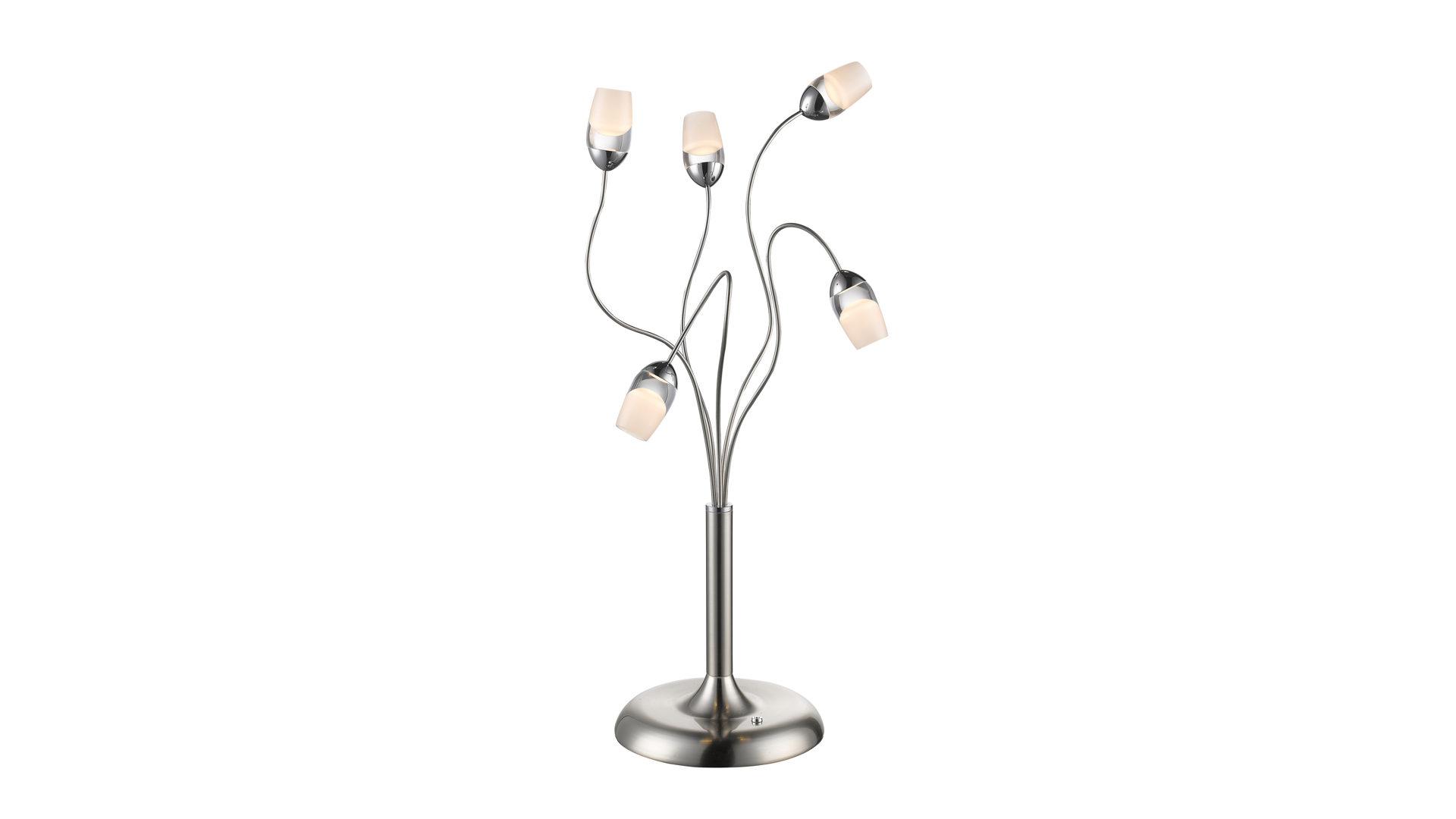 Möbel Busch , Räume, Esszimmer, Lampen + Leuchten, LED Tischleuchte, LED Tischleuchte,  Nickel Matt U2013 Höhe Ca. 65 Cm