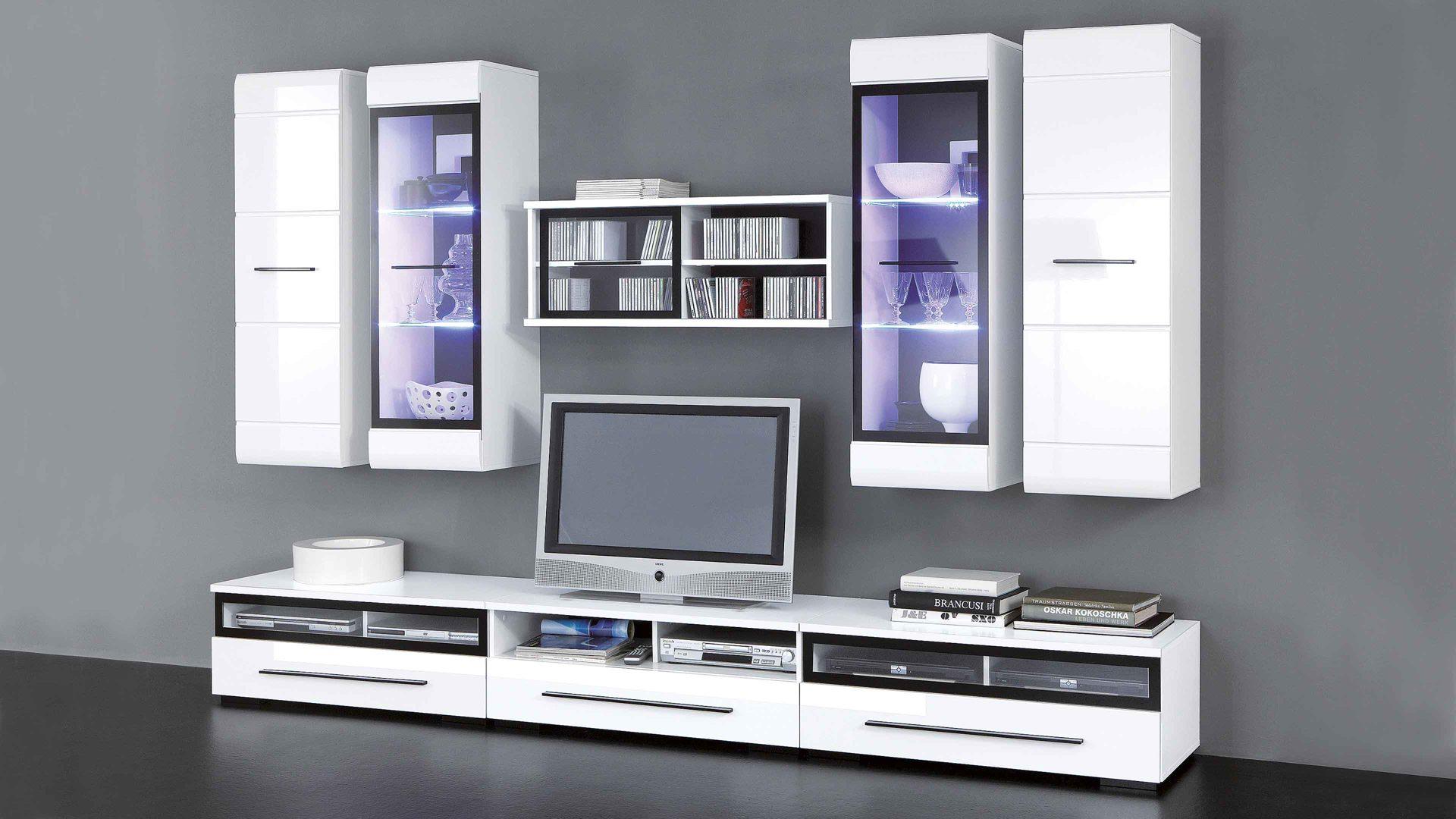 Möbel Busch , Kisten, Wohnwand Inclusive LED Beleuchtung Für Ihr Zuhause,  Wohnwand, Wohnwand Inclusive LED Beleuchtung Für Ihr Zuhause, Achtteilig    Weiße ...