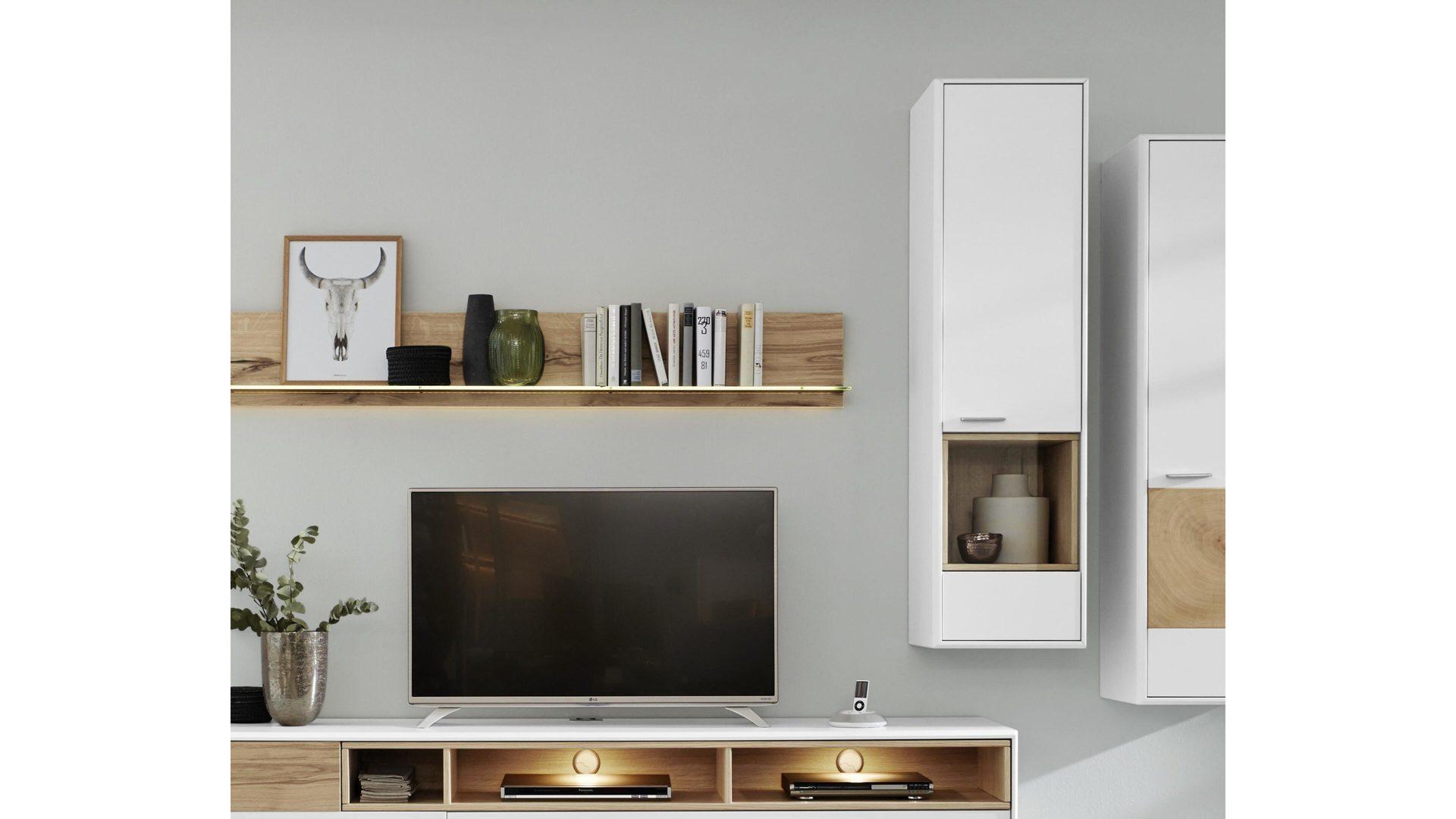 interliving wohnzimmer serie 2102 hangevitrine